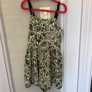 Cheryl kids Black and white girls floral romper